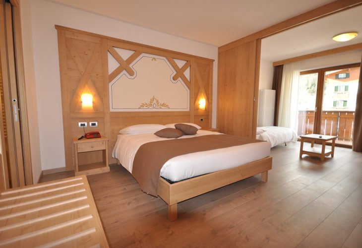 Le suite dell'Hotel Select di Andalo